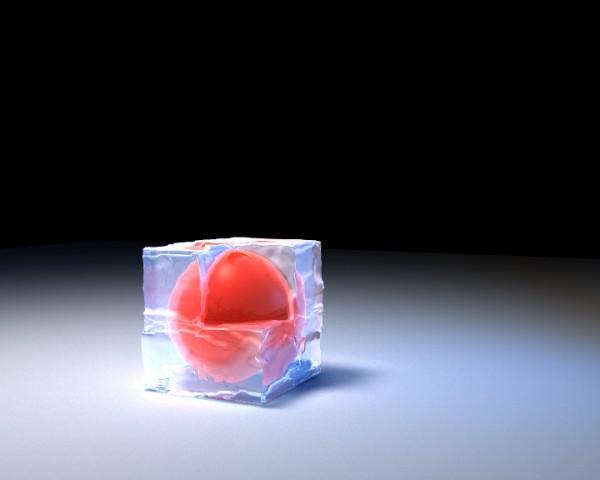 glacon, test de texture